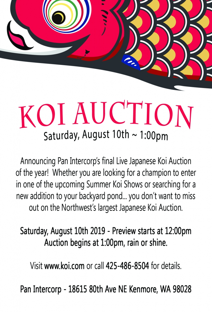Koi Auction - August 10th, 2019